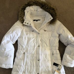 White DKNY like new winter jacket